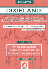 Free dixieland solos (with backing tracks of live musicians!)